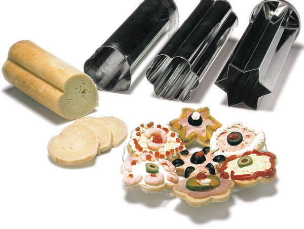 norpro 3656 heavy duty tin bread canape 3 pc mold set new
