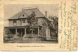Dean Sanitarium Coudersport Pennsylvania 1909 Vintage Post Card - $5.00