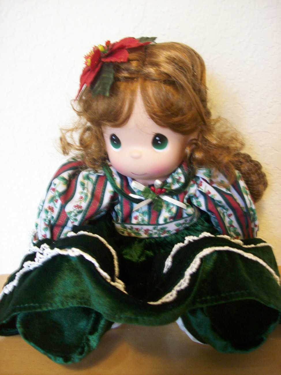 2004 Precious Moments Belle Christmas Stocking Doll  - $85.00