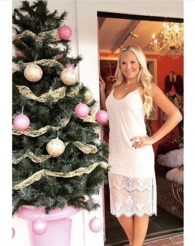 New Lush Dress Size Medium Ivory Taupe Lace Overlay Nordstrom
