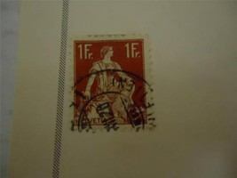 Vintage Official Switzerland Postage Stamp 1922 On Page - Make an Offer - $4.46