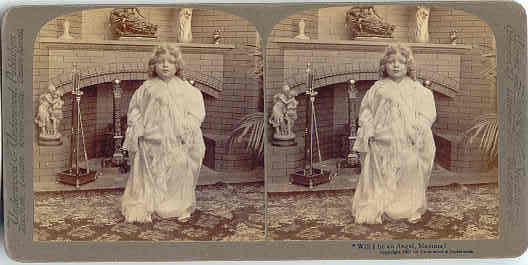 Primary image for Will I be an Angel Vintage Underwood Stereoview Card