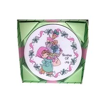 Precious Moments Porcelain Holiday Plate With Easel Bundles Of Joy - $25.00