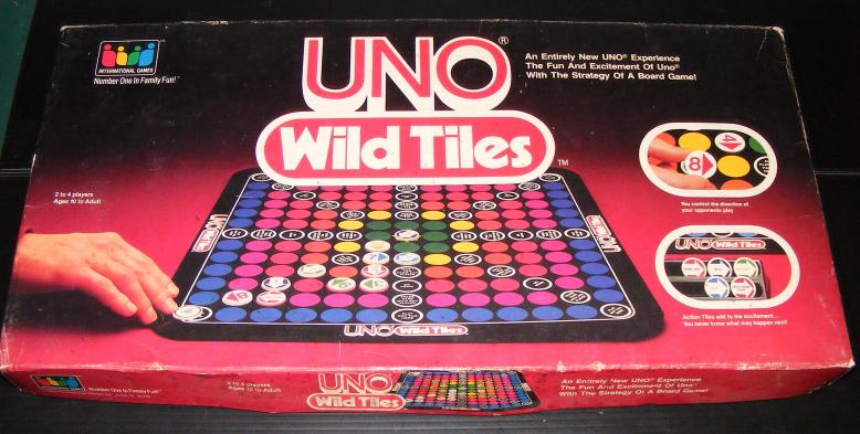 1983 UNO Wild Tiles Board Game - $30.00