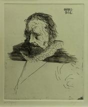 """Leonard Baskin """"Hans Bol"""" - S/N Etching - COA -... - $600.00"""