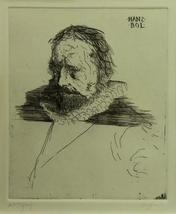 "Leonard Baskin ""Hans Bol"" - S/N Etching - COA - See Live at GallArt - $600.00"