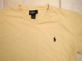 Ralph Lauren Polo Golf Golfing Yellow V-Neck Soft T Shirt M s - $14.84