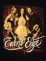 Eden's Edge Concert Tour 2012 Country Music Soft Black T Shirt L - $15.83