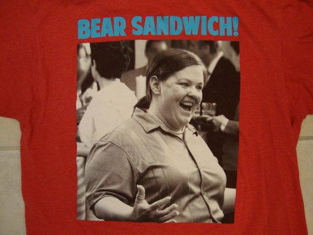 "Ripple Junction Bride's Maids Bridesmaids ""Bear Sandwich!"" Quote Red T Shirt L"