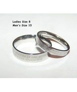Couples Matching Titanium Steel Wedding Bands Free Shipping - $40.00