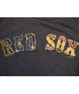 MLB Boston Red Sox Major League Baseball Fan American Flag Blue Soft T Shirt S - $14.35