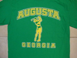 Augusta Georgia National Golf Shop Female Golfer Silhouette Green T Shirt S - $14.84