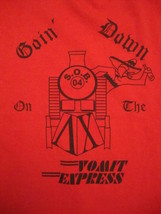 Goin' Going Down On The Vomit Express Train SOB S.o.b Funny Beer Party T... - $14.84