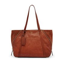 Fossil Gwen Brown Magnetic Snap Leather Double Handle Tote & Shopper - $429.99