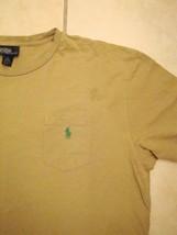 Ralph Lauren Polo Front Pocket Crew Neck Short Sleeve Tan/Green T Shirt 2XL - $14.84
