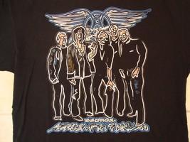 The Official Aerosmith Fanclub Fan Club American Rock Band Black T Shirt XL - $15.83