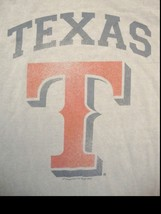 MLB Texas Rangers TX Major League Baseball Genuine Merchandise Gray T Sh... - $14.84