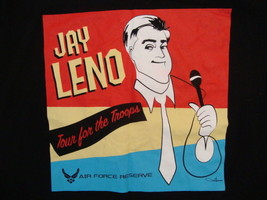 Jay Leno Tour For The Troops Late Night TV Show Comedian Graphic Print T Shirt L - $14.84