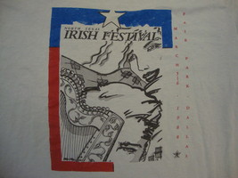 Vintage 1988 North Texas Irish Festival Souvenir Ireland Culture T Shirt  XL - $17.81