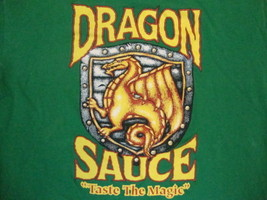 Dragon Sauce Taste the Magic First Team All American Apparel Green T Shirt L - $15.10