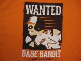 MLB Baltimore Orioles Major League Baseball Nate Mclouth Base Bandit T Shirt XL - $17.81