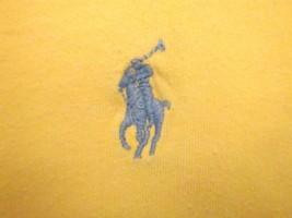 Ralph Lauren Polo Golf Golfing Yellow Crew-Neck Designer Soft T Shirt XL m - $14.84
