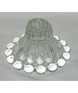 Anchor Hocking Boopie Pattern Clear Candle Holder Set of 2 - $9.85