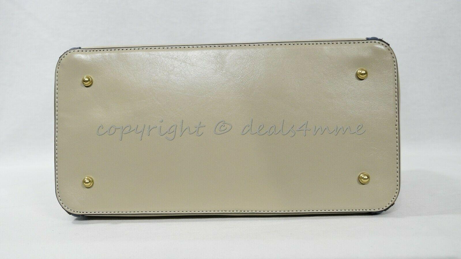 NWT Brahmin Schooner Smooth Leather Satchel/Shoulder Bag in Sand Westport image 11