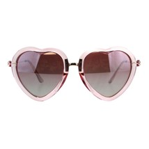 Womens Heart Shaped Sunglasses Translucent Color Frame Lite Mirrored - $9.85