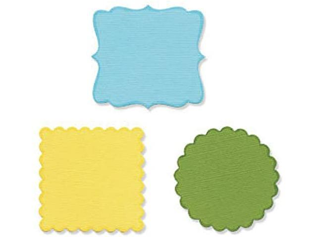 Sizzix Sizzlits Die Set, Decorative Circles and Squares #656321