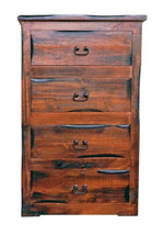 Rustic Santa Cruz PWO Chest of Drawers Solid Wood Western Style Lodge Cabin - $792.00