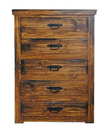 Rustic Windsor PWO Chest of Drawers Solid Wood Western Style Cabin Lodge - $826.65