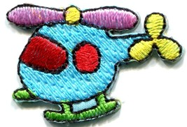 Helicopter chopper copter kids fun sew sewing applique iron-on patch new... - £1.89 GBP