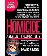 Homicide: A Year on the Killing Streets...Author: David Simon (used pape... - $7.00