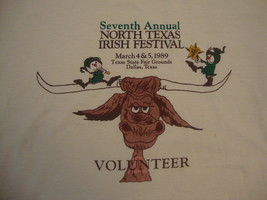 Vintage 1989 North Texas Irish Festival Souvenir Ireland Culture T Shirt  XL - $19.79