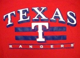 MLB Texas Rangers Major League Baseball Red & Blue T Shirt L - $14.84