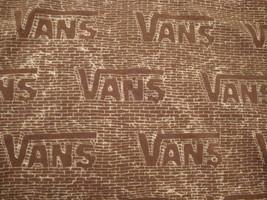 Vans Name Design Brown Graphic Print T Shirt YOUTH L - $14.84