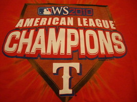 274599bb378 MLB Texas Rangers 2010 American League Champions Red T Shirt XL -  14.84