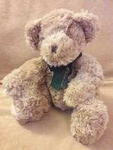 """Russ Berrie Dexter Beige Tan Teddy Bear Green Bow Plush Stuffed Animal Toy 10"""" - $14.95"""