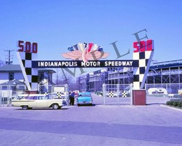 "1960's Indianapolis Motor Speedway 500 Entrance Indy Racing 8""x 10"" Photo - $7.87"