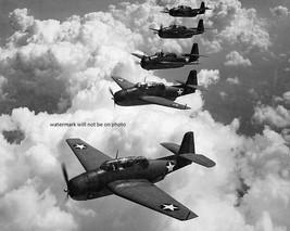 "U.S. Navy Grumman TBF-1 Avenger torpedo bombers in flight 8""x 10"" WWII P... - $7.87"