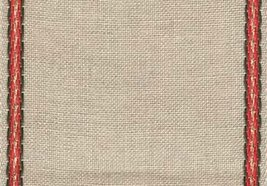 "27ct Penny Natural/Red Green Gold banding 4.7""w x 18"" (1yd) 100% linen Mill Hill - $7.20"