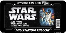 Star Wars My Other Ride Is The Millennium Falcon Plastic License Plate F... - $6.95