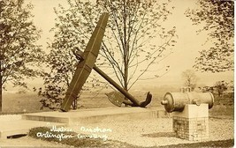 Remember The Maine Arlington National Cemetary vintage Real Photo Post Card - $6.00