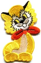 Kitty cat kitten pet retro boho sew sewing applique iron-on patch new S-212 - $2.89
