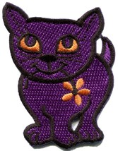 Kitty cat kitten retro applique iron-on patch new S-211 - $2.98