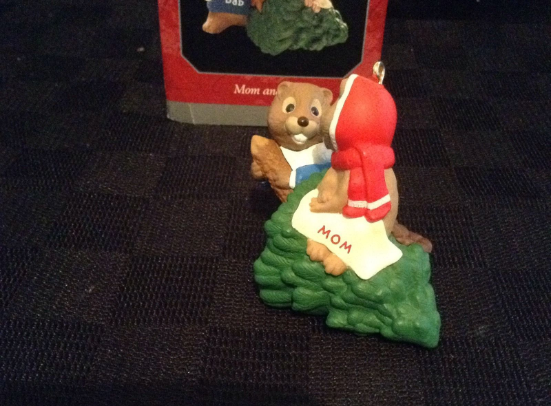 Hallmark Keepsake MOM AND DAD Beavers Christmas Ornament - 1998