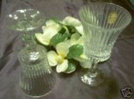 FOSTORIA FACETS GOBLETS 24% LEAD CRYSTAL 9oz Pair NEW - $45.00