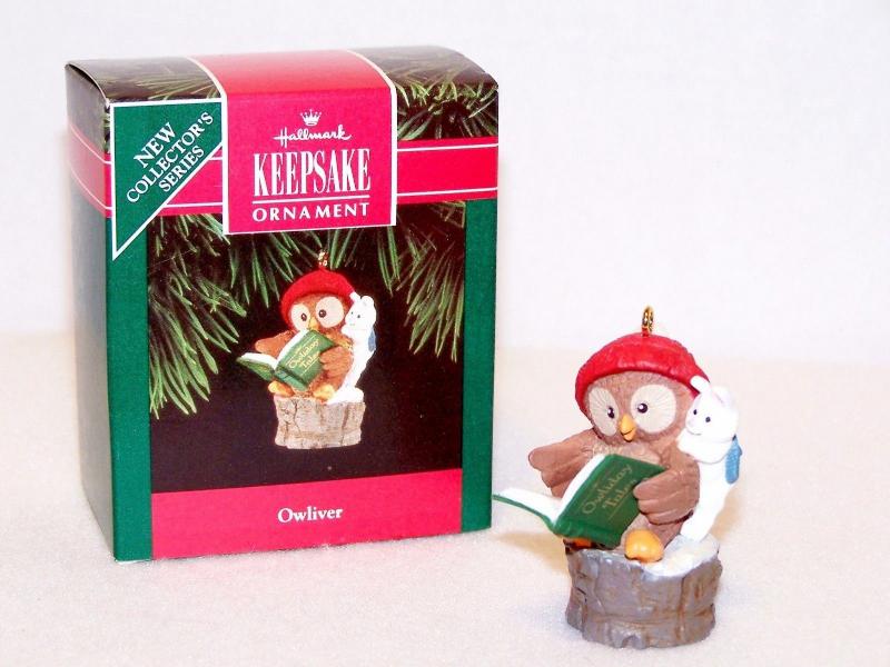 Hallmark Keepsake OWLIVER with Rabbit Christmas Ornament - '92