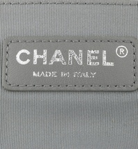 AUTHENTIC CHANEL SILVER QUILTED CALFSKIN MEDIUM BOY FLAP BAG RHW image 6